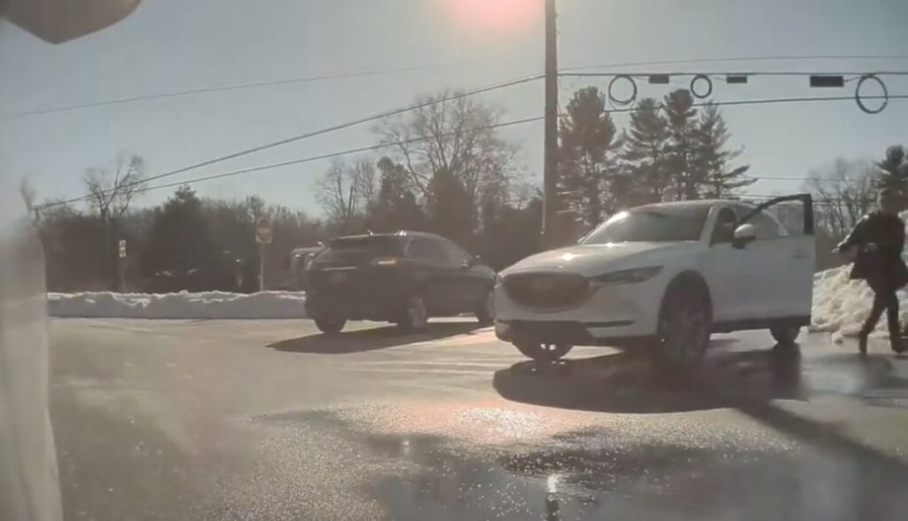 tesla model-3 summon parkplatz helferin