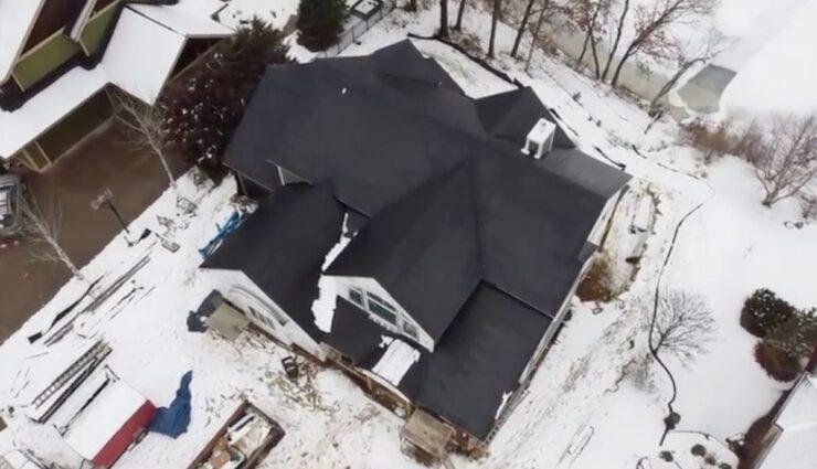 tesla solar roof schnee