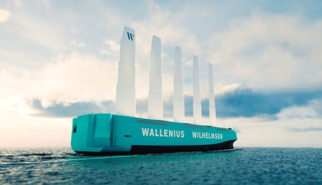 wallenius wilhelmsen roro carrier windantrieb
