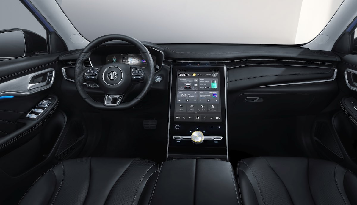 mg marvel-r electric cockpit