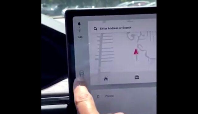 tesla model-s touchscreen schieber fahrstufe