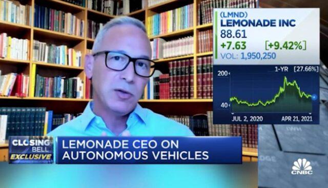 cnbc lemonade ceo tesla versicherung