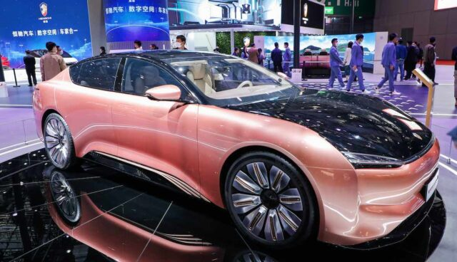 hengchi elektroauto messe auto shanghai 2021