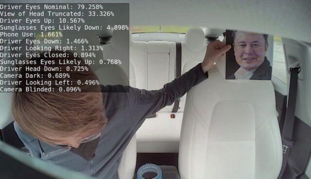 tesla innen kamera autopilot musk bild trick