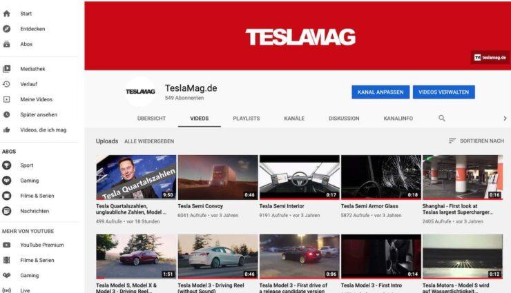 teslamag youtube seite tesla news analysen