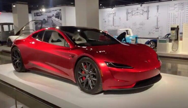 tesla roadster petersen auto museum