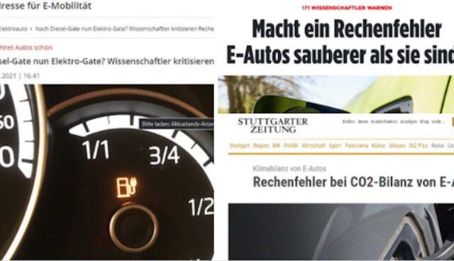 elektroauto studie co2 zeitungen