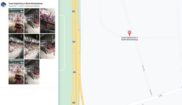 tesla gigafactory berlin google maps innen fotos