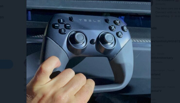 tesla model-s game controller
