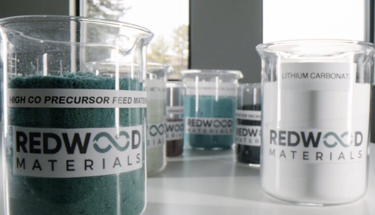 redwood materials akku recycling rohstoffe