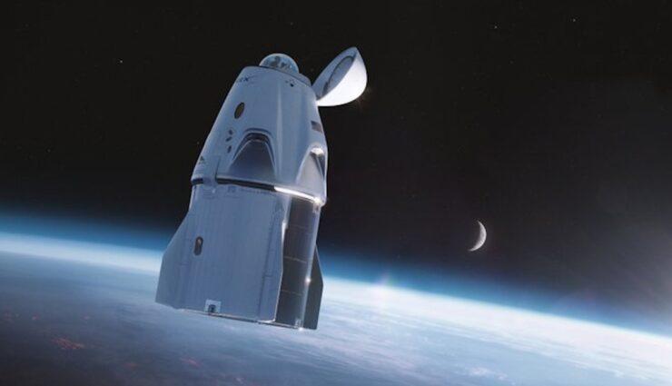 spacex dragon kapsel kuppel