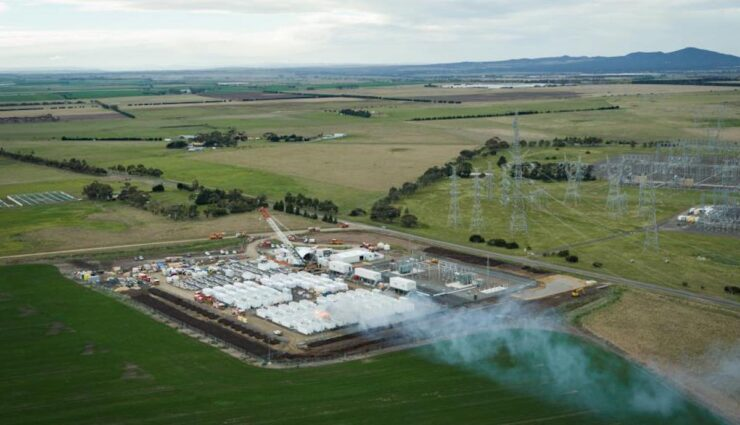 tesla australien big battery megapack rauch