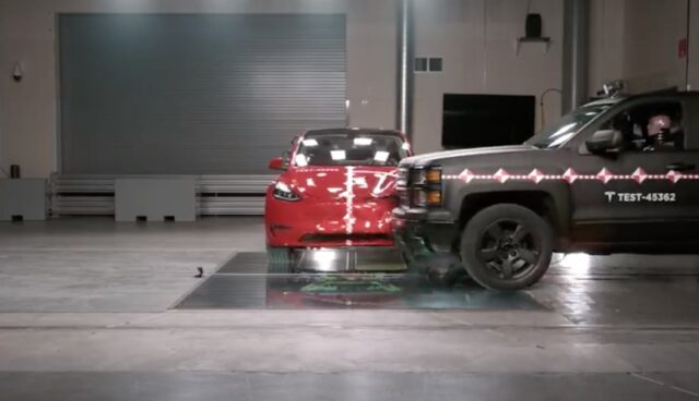 tesla crash lab model-3 pickup