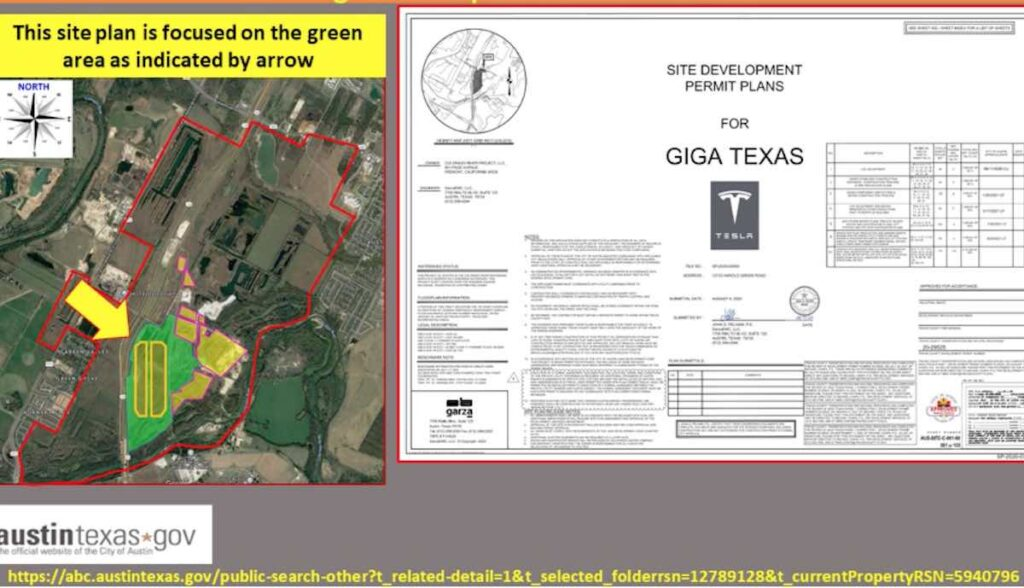 tesla giga texas site plan sep21