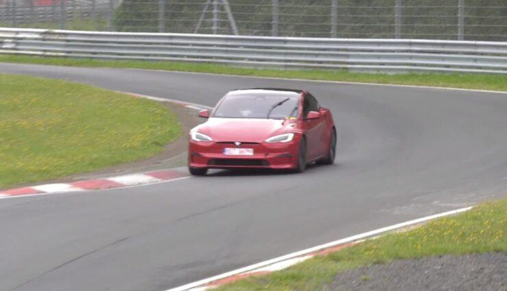 tesla model-s plaid nuerburgring aug21