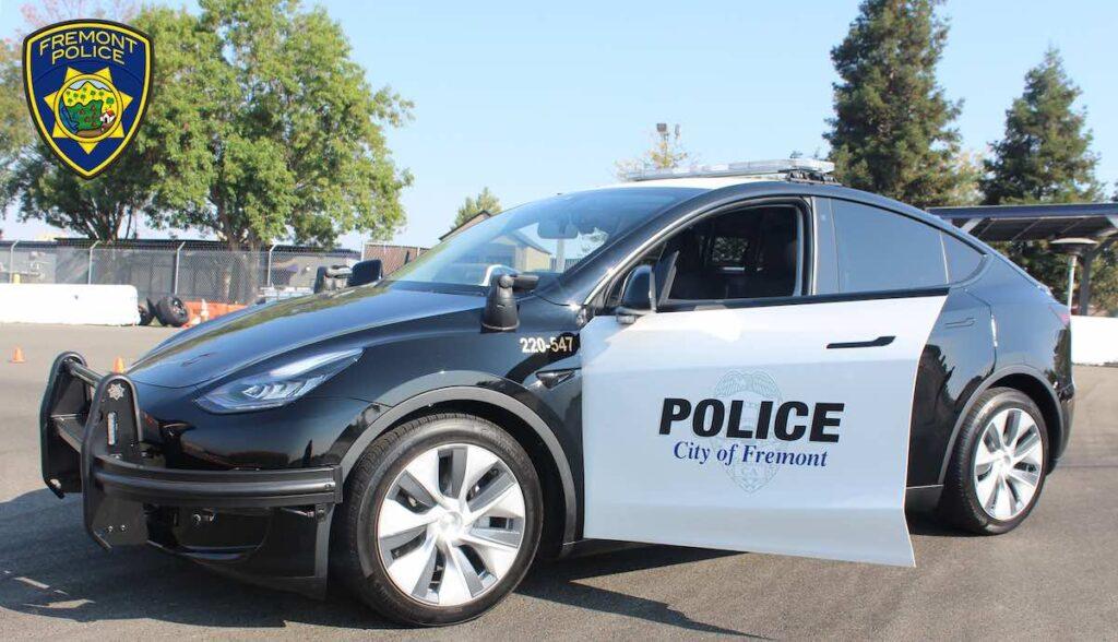 tesla model-y polizei fremont