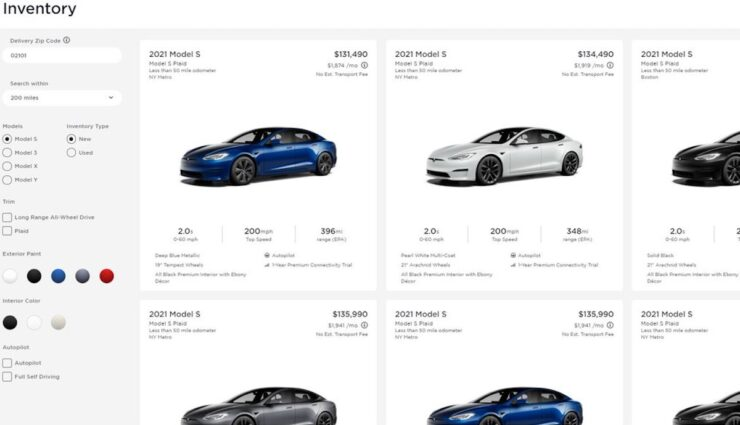 tesla website usa model-s verfuegbar