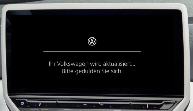 volkswagen meb software update ota bildschirm